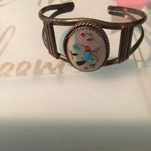 Jewelry - Bird native American inspired cuff bracelet petite